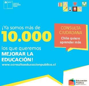 Más de 10 mil personas han participado en la Consulta ciudadana de educación pública