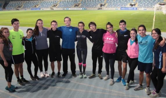 Academia de Running de la Universidad de O'Higgins se prepara para su primera corrida 2019