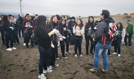 En Pichilemu se realizó exitoso desafío viral #BasuraChallenge