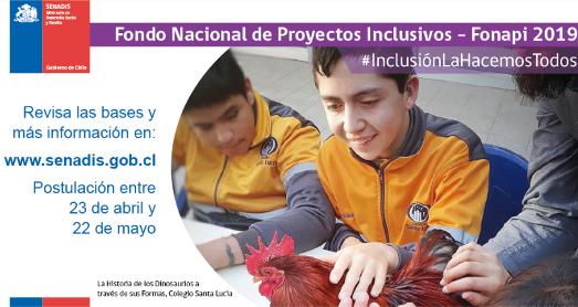 SENADIS promueve postulación al Fondo Nacional de Proyectos Inclusivos 2019 en O'Higgins