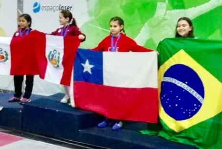 Pequeñas esgrimistas  ganan medalla de bronce en Sudamericano de Brasil