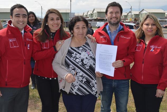 Autoridades entregaron terreno a la Federación Regional de Juntas de Vecinos
