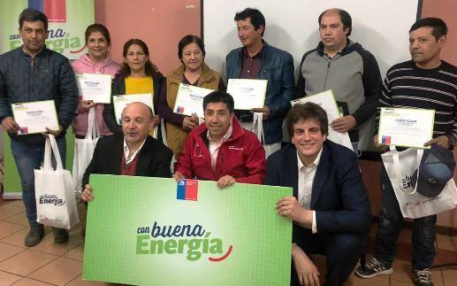 Programa Con Buena Energía benefició a 200 familias de Chancón