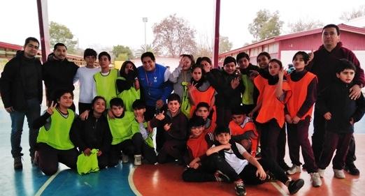 """Programa """"Actuar a Tiempo"""" de SENDA-Previene Rancagua realiza campeonato de baby Fútbol  mixto"""