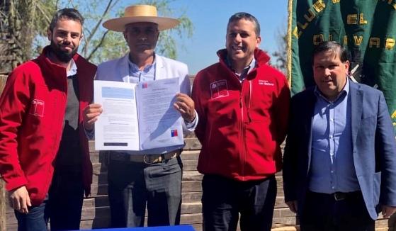 Autoridades entregan título de Dominio a Club de Huasos El Olivar de Nancagua