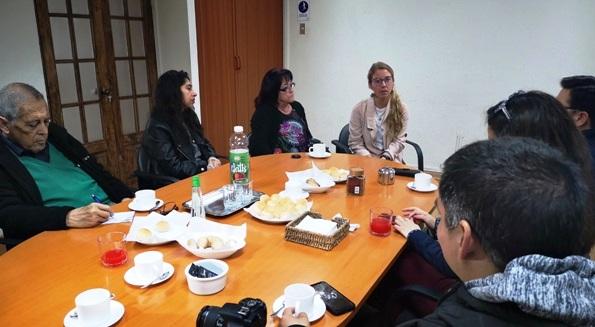 Directora de SERNATUR se reúne con medios de comunicación de O'Higgins