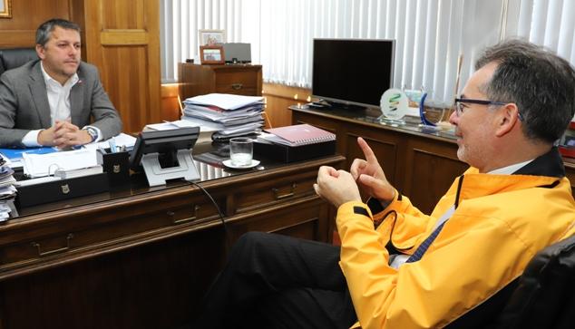 Intendente se reúne con el director regional del Instituto Nacional de Derechos Humanos