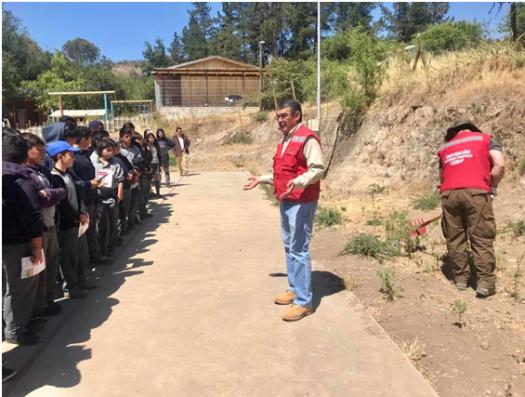 Exitosa campaña de prevención de incendios forestales a comunidad escolar de sectores rurales