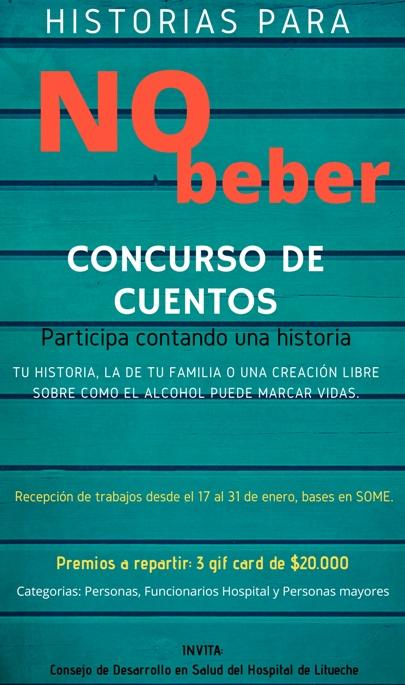"""Consejo de Desarrollo Hospital Litueche lanza """"Historias para no Beber"""""""