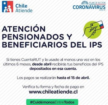 Desde este mes, los beneficiarios del IPS con Cuenta Rut activa ya no deben ir a una sucursal de pagos
