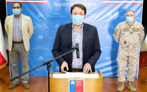 COVID-19: Confirman tres nuevos casos en Rancagua y contagios en la región suben a 41