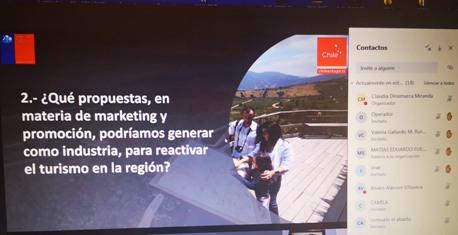 2da jornada virtual de co -creación de la hoja de ruta para la reactivación turística de O'Higgins reunió a importantes actores del turismo regional