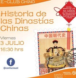 "Instituto Confucio invita a ""E-Club Chino"" sobre Dinastías Chinas"