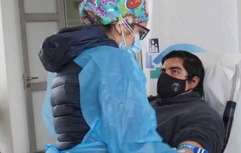 Bomberos de Rengo dona vida en colecta de sangre