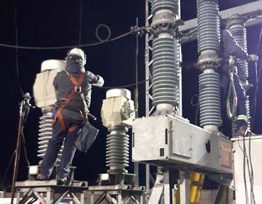 CGE ejecuta importante plan de mantenimiento en el área de transmisión de energía