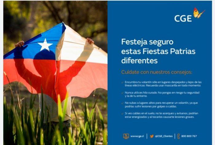 CGE entrega recomendaciones de seguridad en Fiestas Patrias