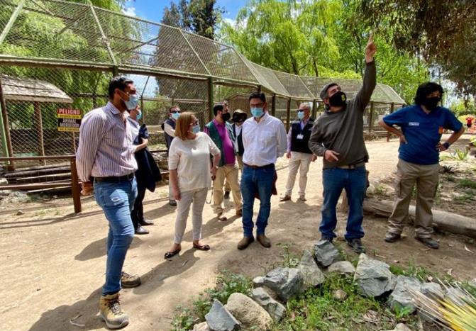Intendenta Cofré junto a SEREMIS de Salud y Agricultura visitan el Parque Safari el día de su reapertura