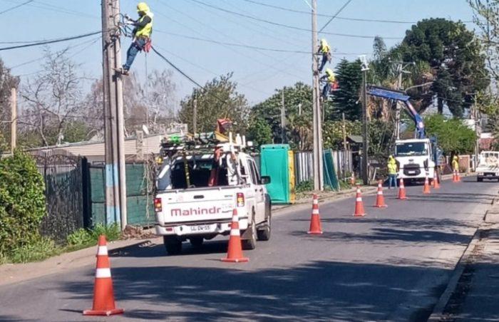CGE fortalece sistema eléctrico en Malloa, Rengo y Quinta de Tilcoco