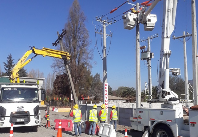 Ampliación de Ruta 5 Sur: CGE realiza traslado de redes para construcción de terceras pistas