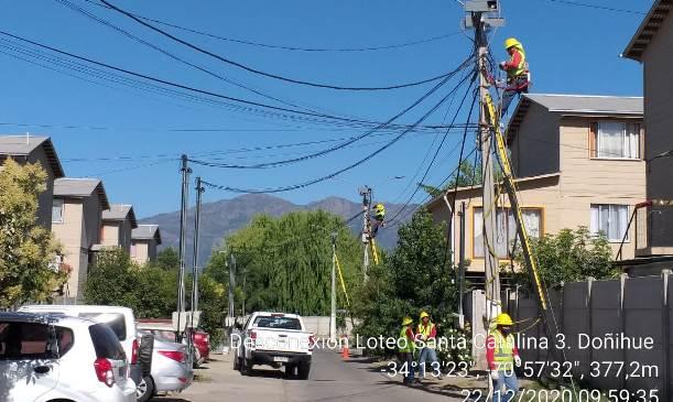 Más de 10 mil nuevos clientes fueron conectados a la red eléctrica durante el 2020 en O'Higgins