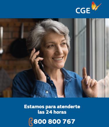 CGE refuerza uso de número telefónico gratuito para atención a clientes