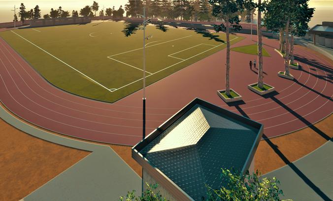 Así podría quedar el remodelado  estadio Covigra de Graneros