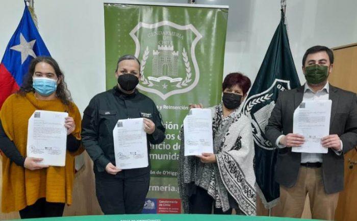 Junta de Vecinos Villa Hermanos Vera  firmó importante convenio de Prestación de Servicio en Beneficio de la Comunidad